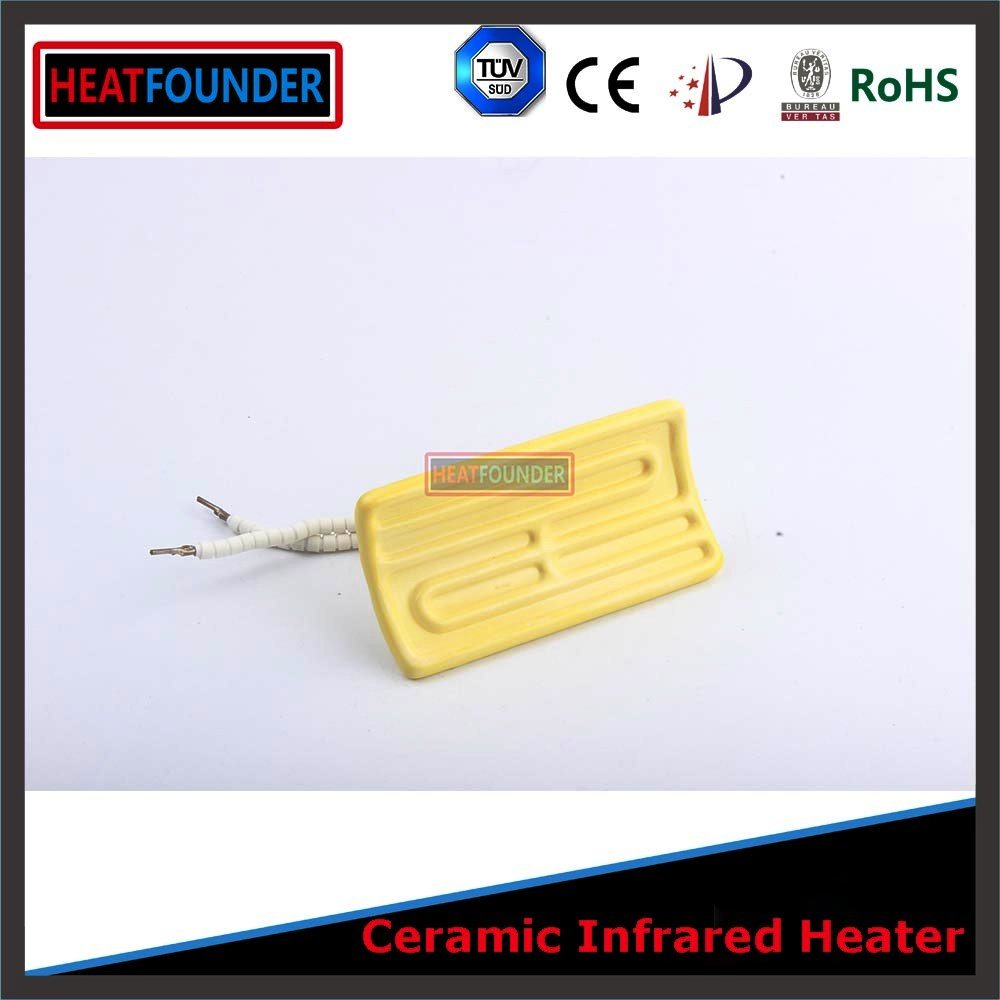 <strong>122</strong>*60mm yellow electric ceramic infrared heater panel elements