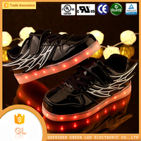 german shoe manufacturers hip-hop LED luminous light up kids children casual running led shoes