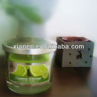 Green Orange scent Glass Candle jars