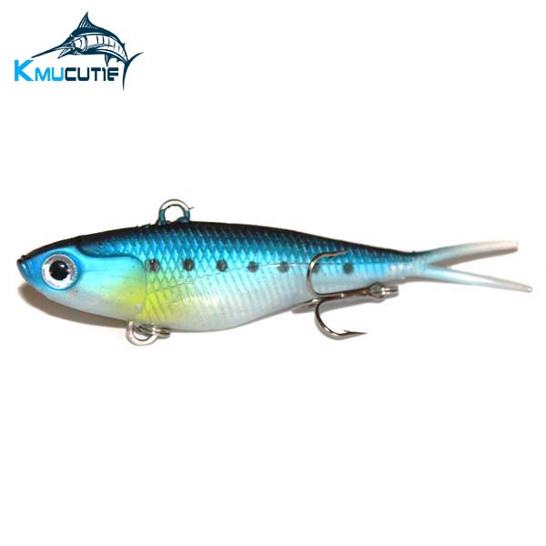 Soft Vibe Lure 95mm Blade VIBE Soft Bait Plastic Fishing Lure Salmon Barra Flathead BreamSoft Vibe Fishing
