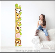 Height Measurement Zoo Sticker Wall Stickers 3d Chart Sticker Animal Customed Increase Height Growth