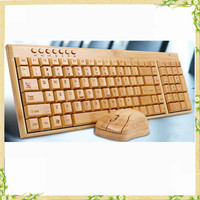 2016 wireless keyboard, original bamboo keyboard mouse combo