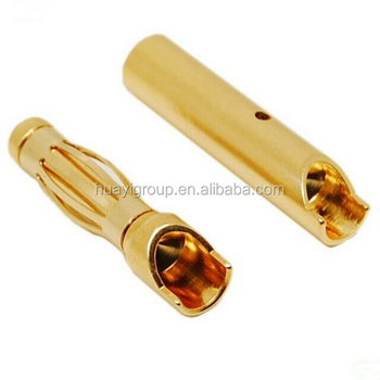 Custom 4MM Safety Banana Plug with nickel or gold plated