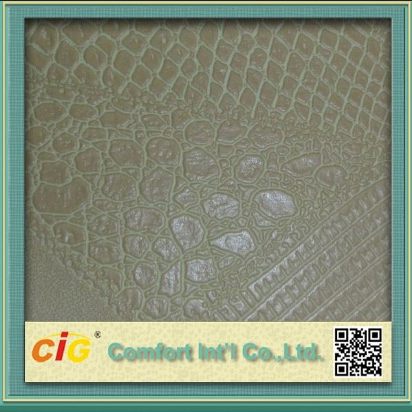 Sofa Seat Artificial Crocodile Leather