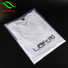 Wholesale custom clothing t shirt packaging frosted ziplock bag/ziplock bag custom printed/plastic bag ziplock