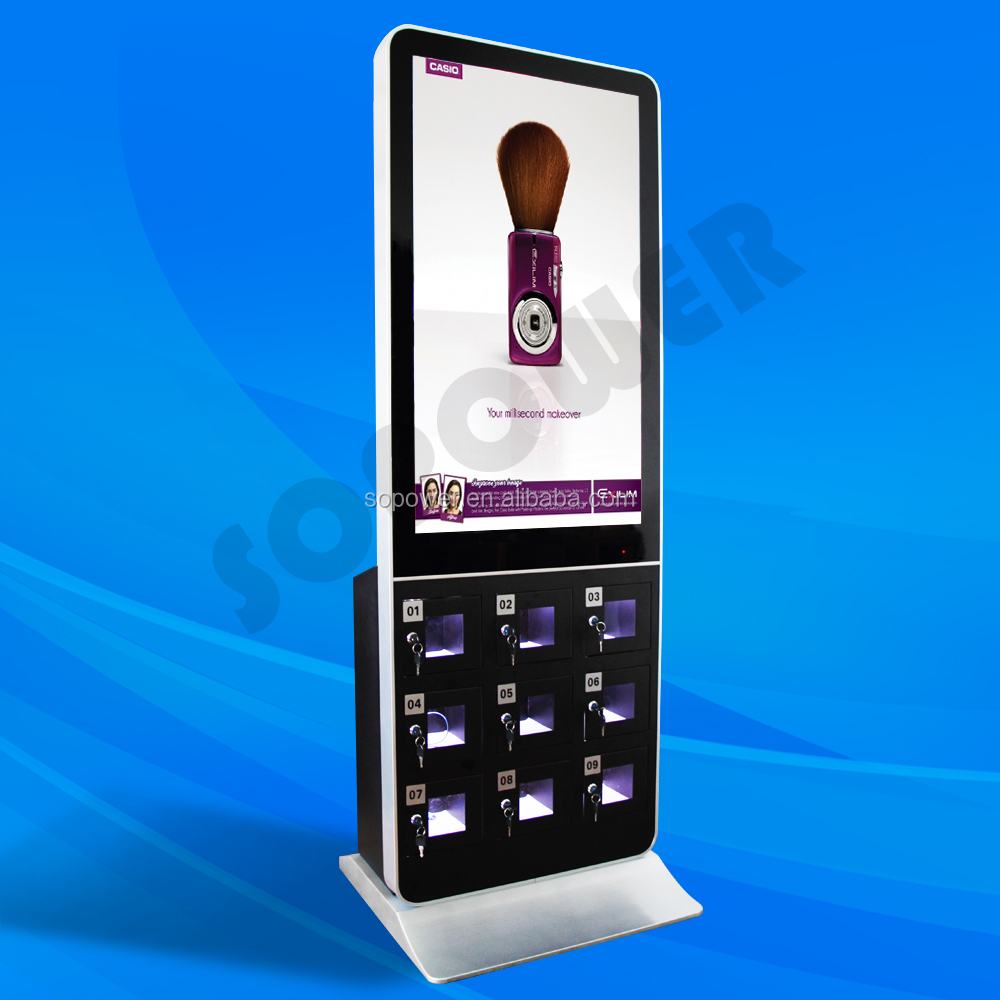 All in one PC,TFT Type and Indoor Application cell phone charging Kiosk