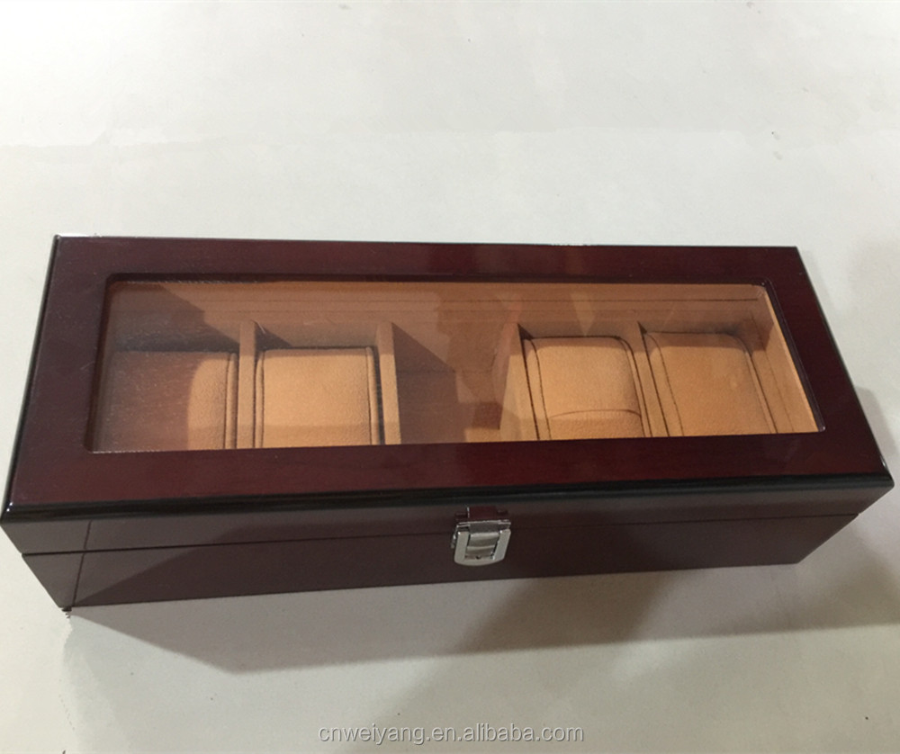 High quality wooden gift box 5pcs watch display case holder wooden Watch Box