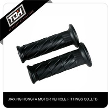 China supplier motorcycle parts black pvc scooter handle grip open ends