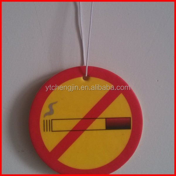 No smocking car air freshener / classic car air freshener card for sale