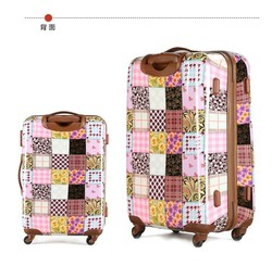 abs printed hard shell luggage