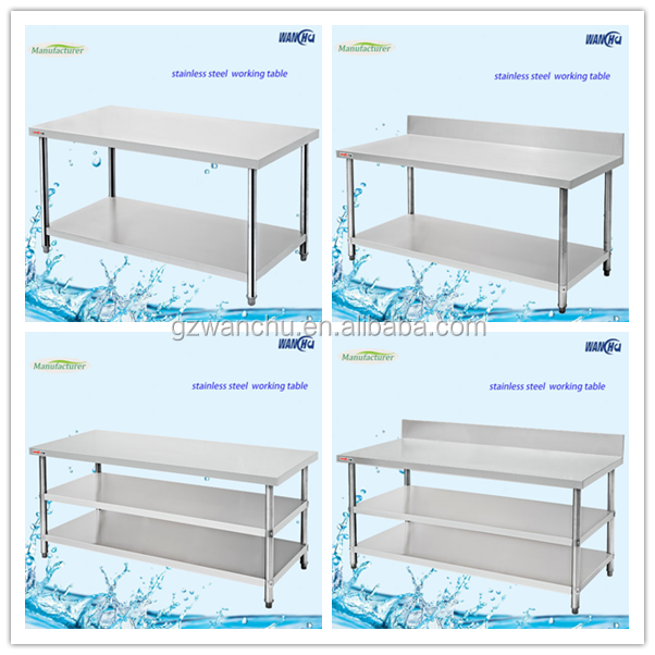 Manufacturer Stainless Steel Kitchen Work Table/Heavy Duty Commercial Work Bench/Kitchen Utility Table for Restaurant Equipment