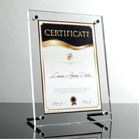 11x17 Contemporary Acrylic Photo Frame Acrylic L-frames Counter Screw Acrylic Certificate Document Holders Frames