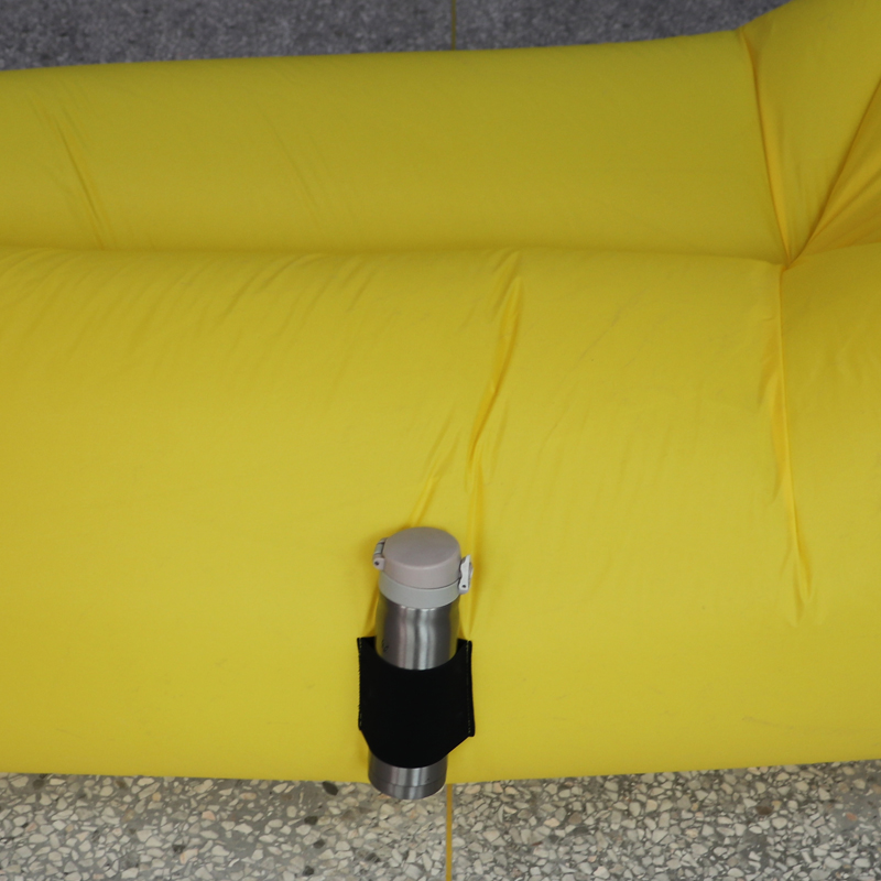 No external pump needed fast inflatable cooler sofa