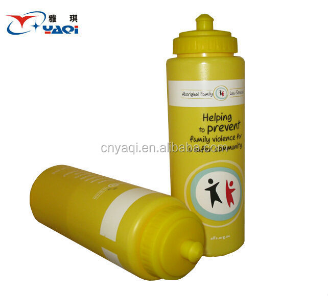Big volume BPA Free PE material with straw plastic water bottle