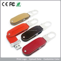 Business Gift Item,Promotional Key Chain Leather USB,external/portable the leathers hard drive