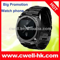 Big promotion GSM Quad band Metal Watch Mobile Phone TW818