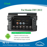 "8"" Android Car DVD for Honda CRV 2012 with Capacitive multi-touch screen Gps Navi,3G,Wifi,Bt,Radio,AUX in,Ipod"