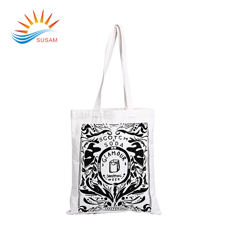 Promotional eco friendly standard size organic canvas cotton tote bags wholesale