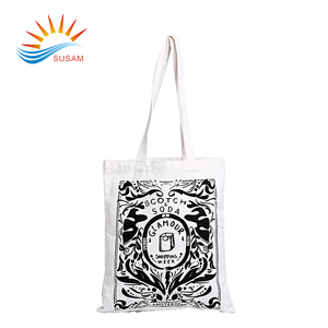 Promotional eco friendly standard size organic canvas tote cotton shopping bag