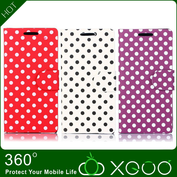 polka dots mobile phone for huawei ascend p6 case