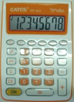 Orange General Purpose Calculator 8 digits with Key sound Battery Power