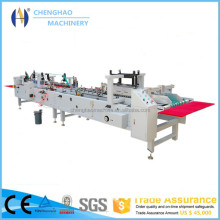 corrugated box folding and gluing machine