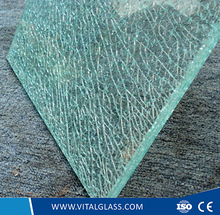 Ice Crashed Bent Tempered/Toughened Building Laminated Glass