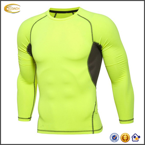 2017 NEW High Quality Custom Logo Men's Training Clothes Long Sleeve Compressed T-Shirts