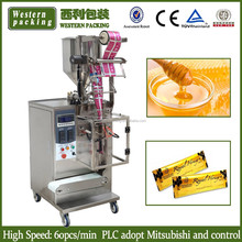 automatic viscous liquid packing machine, stick honey liquid packing machine, honey sachet packing machine