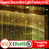 CE ROHS approved Warm White 6*3m rental light curtain fairy lights curtain led IP44 220V cheap decorative led curtain light