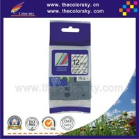 "(TZe-131) 2pcs BLACK ON CLEAR tape label cartridge for brother P-touch TZe-131 TZe 131 TZ-131 TZ 131 1/2"" (12mm)"