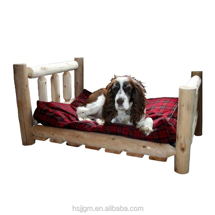 outdoor wooden pet dog bed