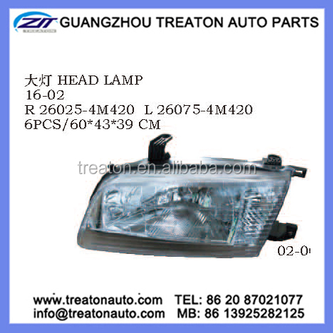 HEAD LAMP 26025-4M420 26075-4M420 FOR NISSAN SUNNY INDICATOR B15 99