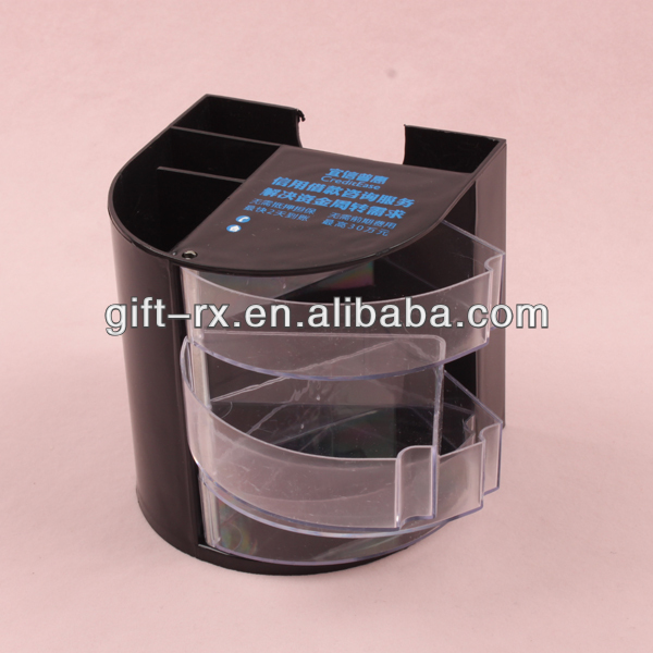 multifunction plastic pen holder with memo pad holder