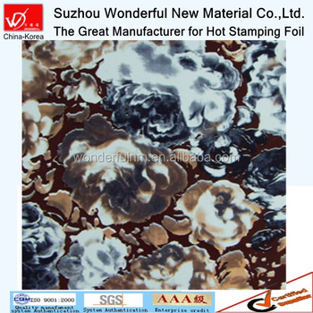 Multicolor flower design hot stamping foil for textile & fabric