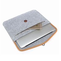 Felt Laptop Sleeve Bag Handle Notebook Computer Case Pouch with Accessories Holder