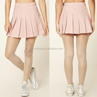 School Uniform Design Skirt Juniors Fancy Solid Blank Woven Mini Fashion Sexy Allover Pleated Mini Skirt For Teenager