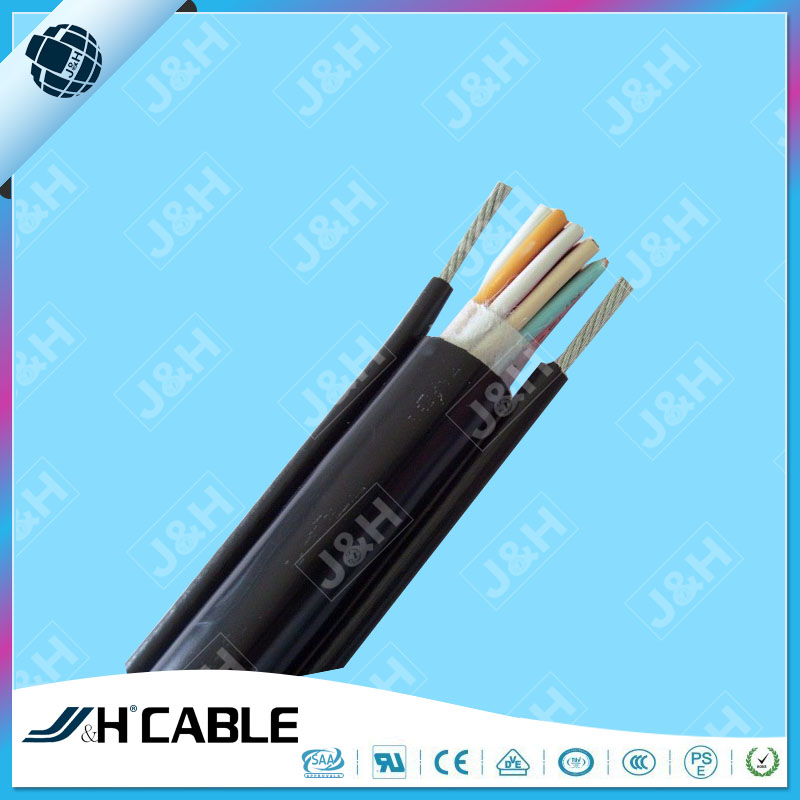 VDE CCC IEC Standard Round Cable with Supporting Steel Wire RVV(1G)