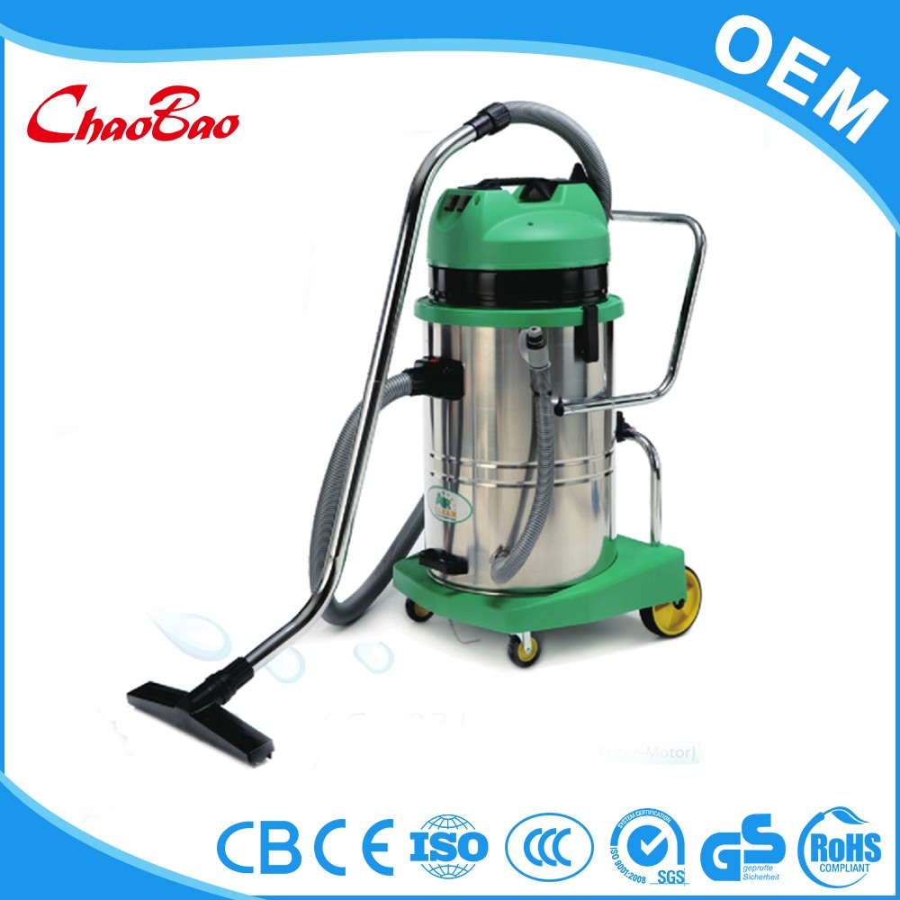 Rechargeable water filtration bagless vacuum cleaner for carpet wash