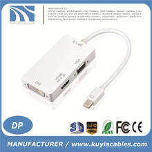 2016 new 3 in 1Mini Displayport DP to HDMI VGA DVI Cable 4K x 2K Adapter For Mac Air Pro