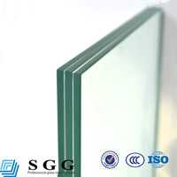 CE certificated Clear glazing triple laminated glass