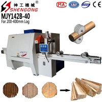 Shengong Multi Rip Round Log Saw Machine