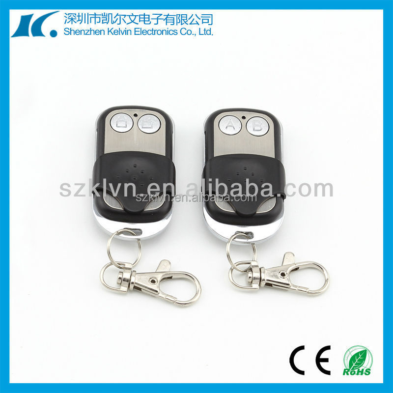 DC12V 2 Keys Copy Fixed code and learning code 315mhz/433.92MHZ auto gate door remote control KL180-2K