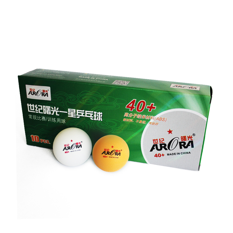 Hot sales AURORA 1 star table tennis balls 40 mm+ ping pong balls