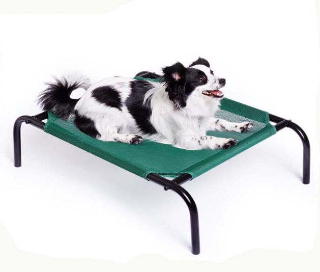 The Elevated Pet Bed By Coolaroo - Large Brunswick Green for dogs cats pets fabric stainless leg
