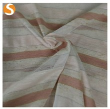 Polyester shaoxing cotton metallic yarn knitted dyed fabric