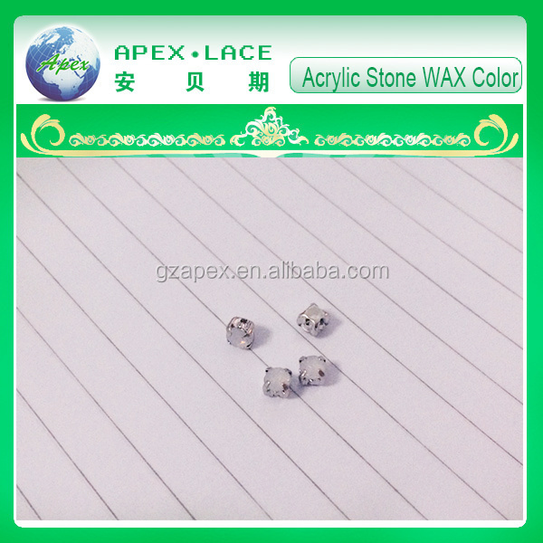 Acrylic stone 4MM WAX color Lead Free Nickle Free Apex Acrylic Claw Stone
