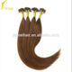 Factory wholesale grade 7A virgin russian hair 1g/strand 100 human hair remy nail tip hair extension