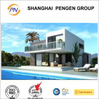 Top hot sale prefab house light steel frame structure villa/resort with America Stytle