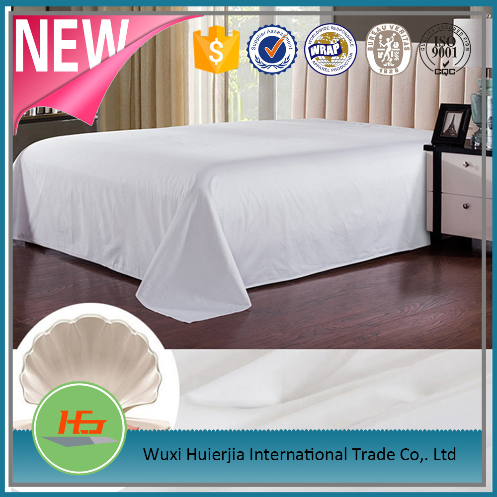 Plain white 100 cotton hotel 300tc bleached bed sheet/bedding set/bedding sets